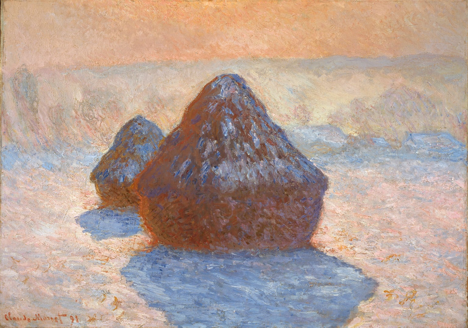 4. Haystacks: Snow Effect, 1891, Scottish National Gallery - Collection: National Galleries of Scotland