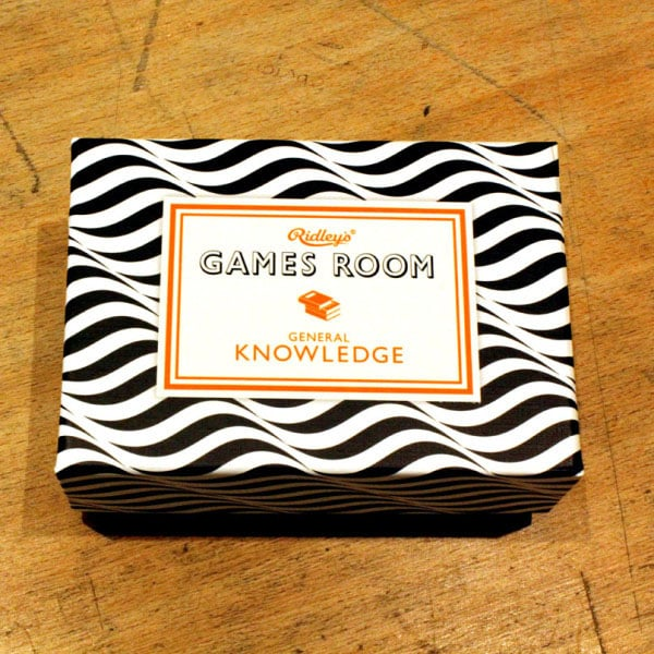 3. Games Room: General Knowledge quiz cards, Ikon, £7.95 - 10% off shop purchases with National Art Pass