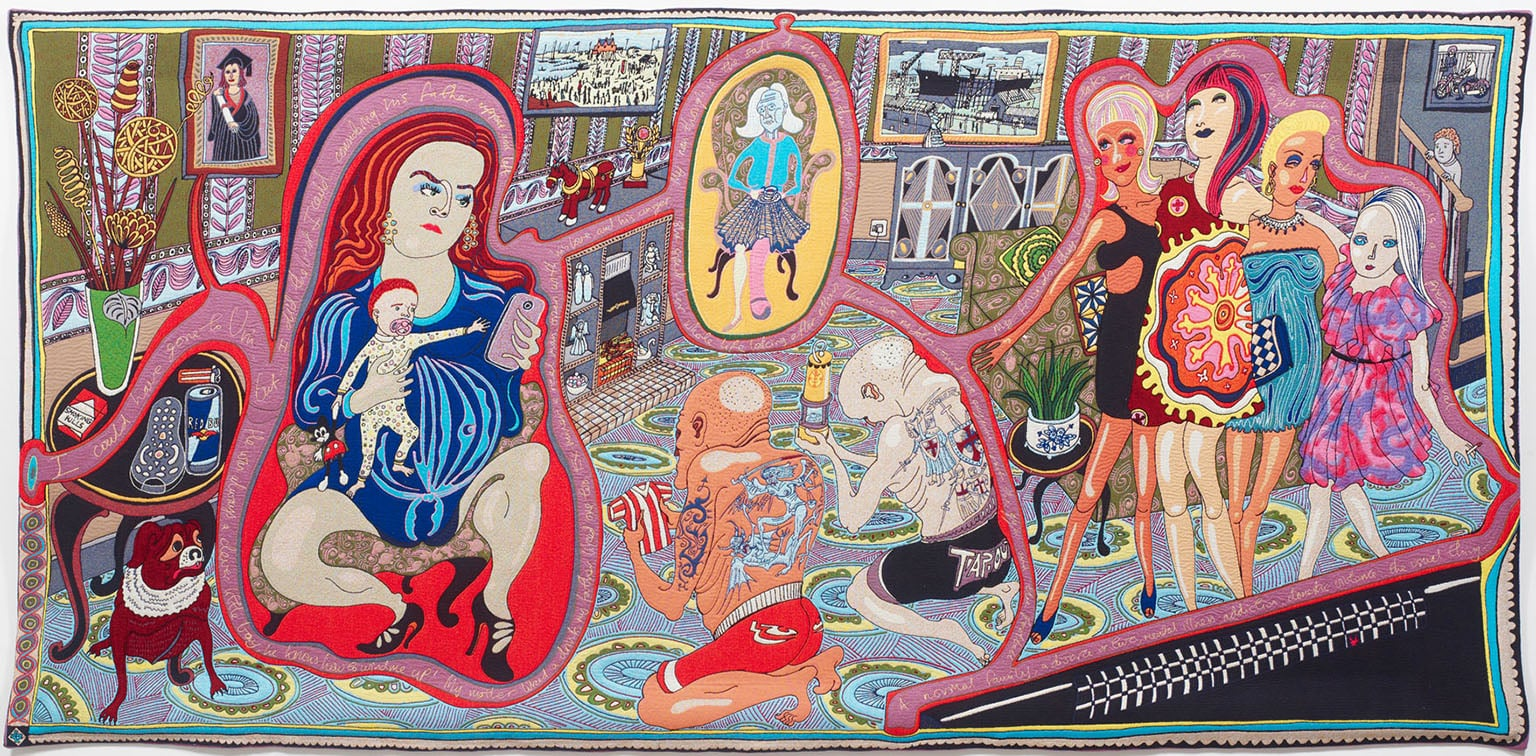 Grayson Perry, The Adoration of the Cage Fighters, 2012 - Courtesy the Artist and Victoria Miro Gallery, London, © Grayson Perry