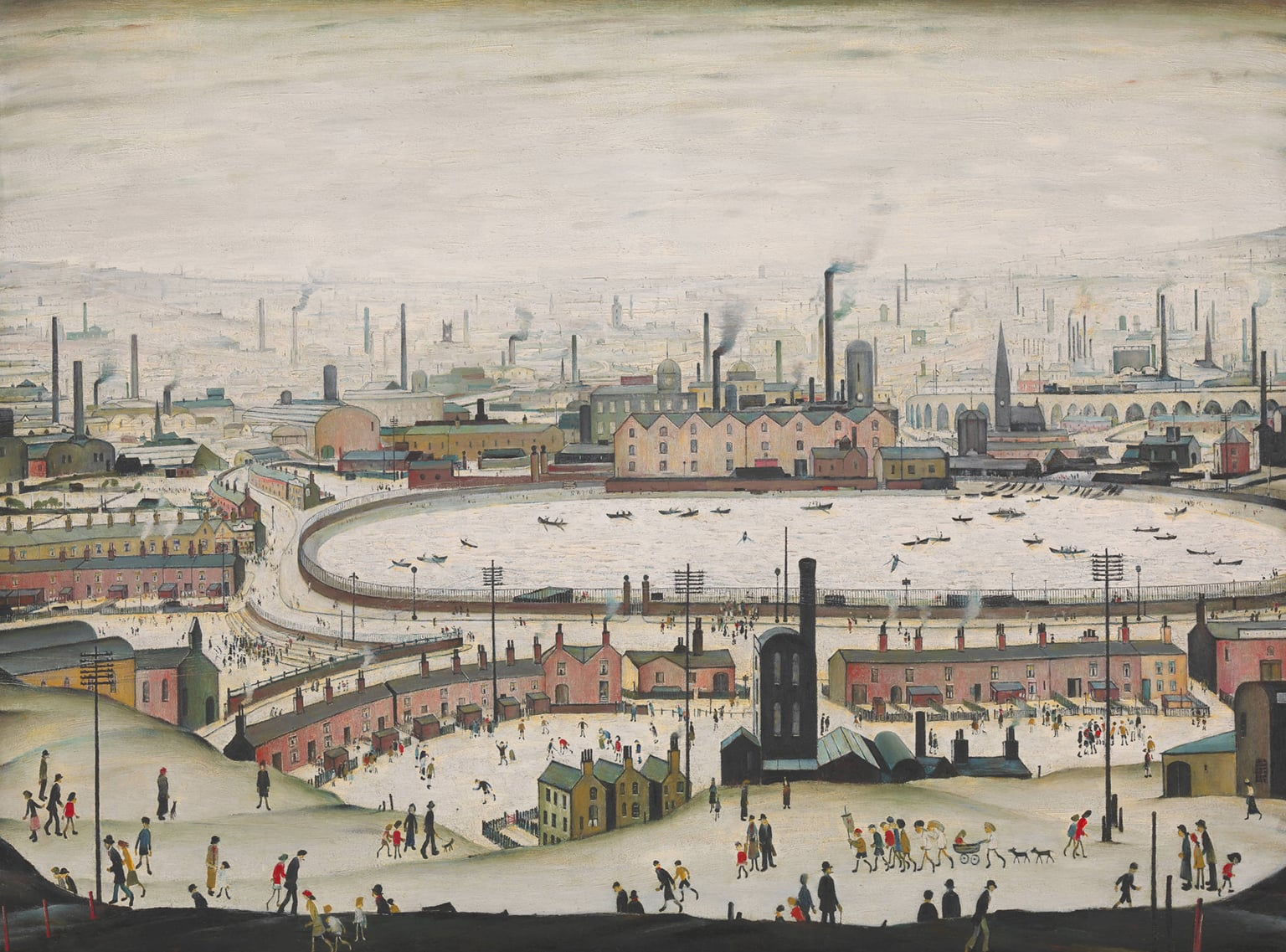 2. The Pond, 1950. Tate Britain - © The estate of L.S. Lowry/DACS 2016