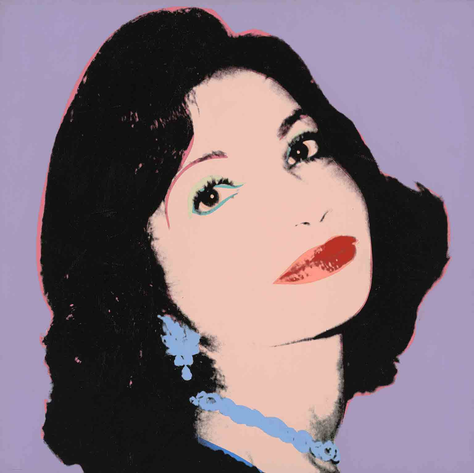 2. Andy Warhol: Works from the Hall Collection, Ashmolean Museum. 50% off with National Art Pass - Andy Warhol, Farah Ashraf Pahlavi (Princess of Iran), 1977 © The Andy Warhol Foundation for the Visual Arts Inc; the Artists Rights Society, New York
