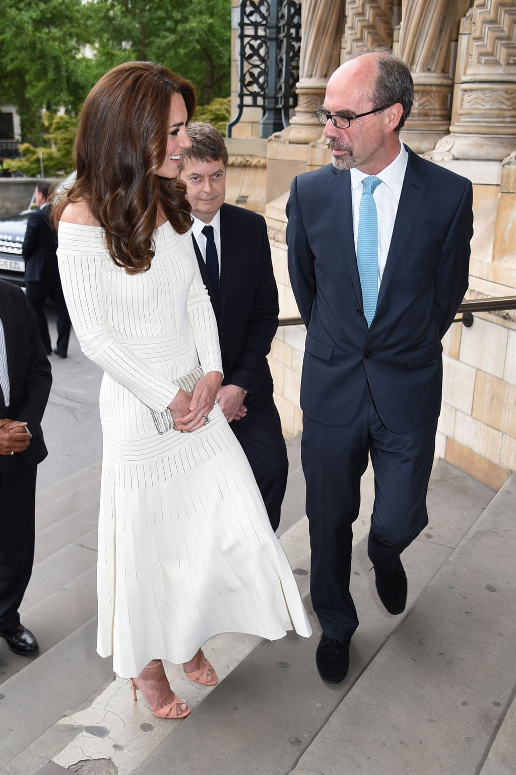 HRH The Duchess of Cambridge greets Art Fund director, Stephen Deuchar, at the Museum of the Year ceremony
