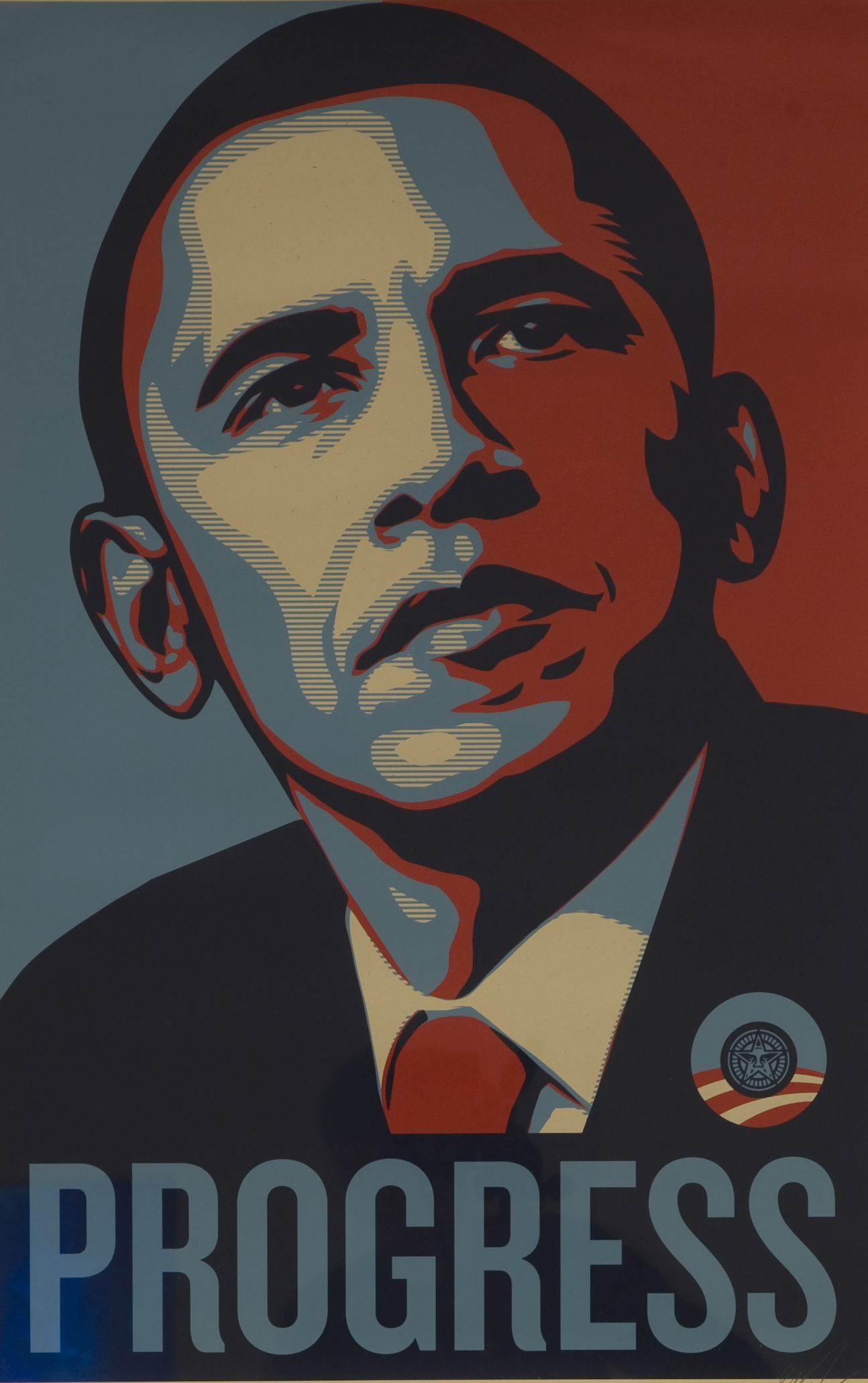 Barack Obama poster by Shepard Fairey -