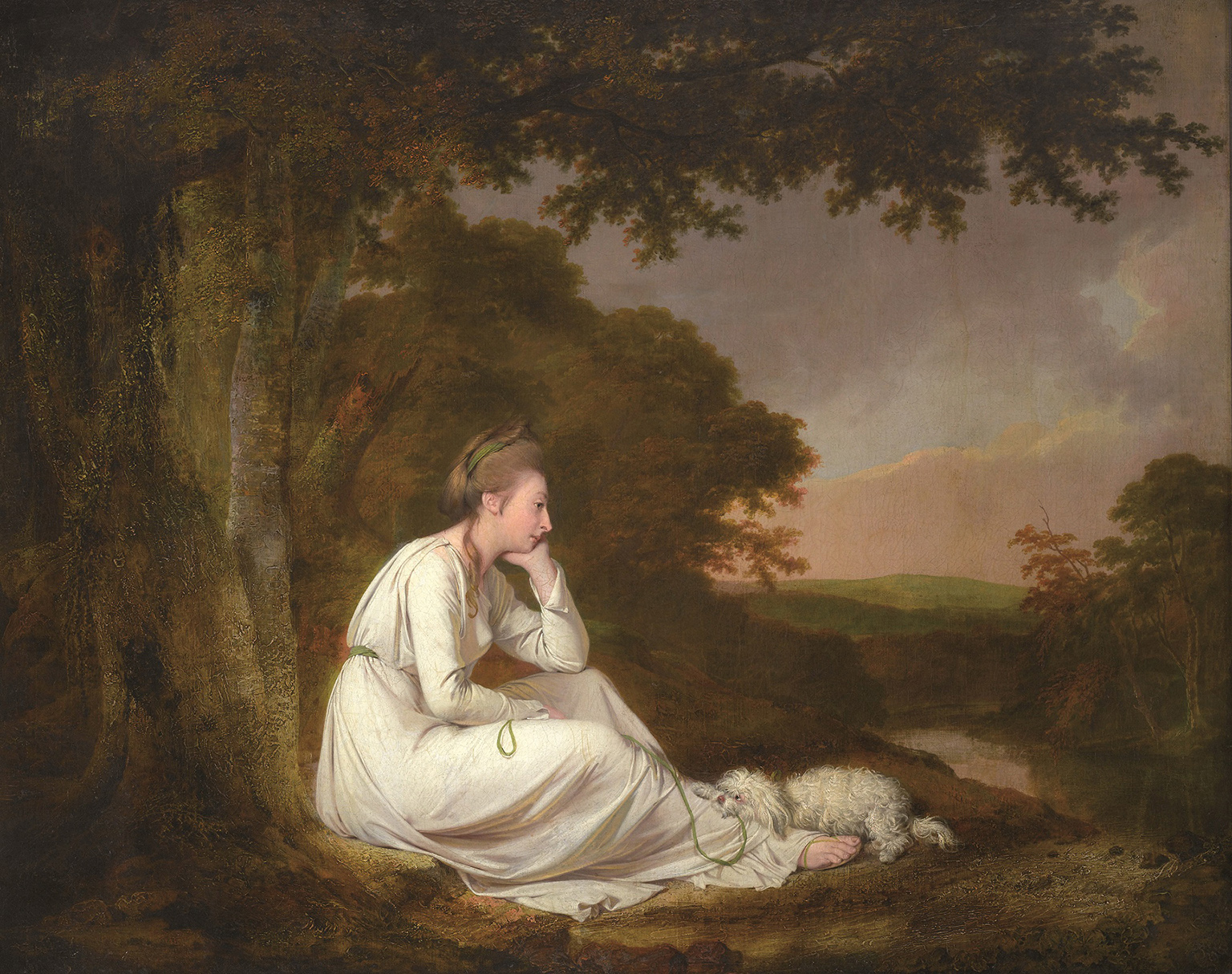 Joseph Wright of Derby, Maria, from Sterne, 1777 - © Ferens Art Gallery