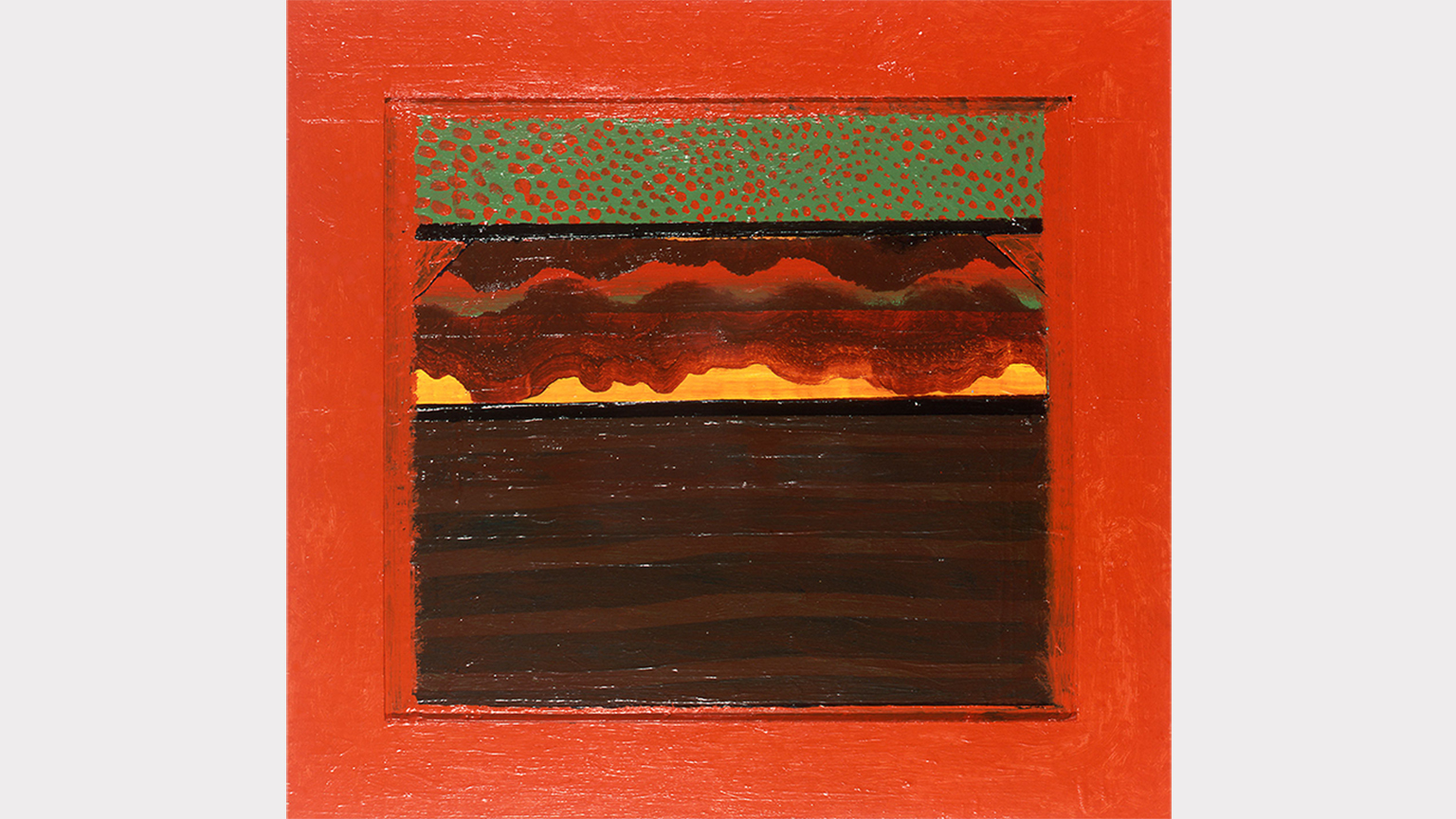 Howard Hodgkin, Bombay Sunset, 1972-73