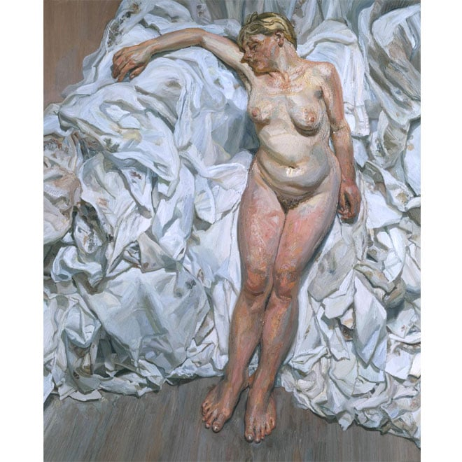 Lucian Freud, Standing by the Rags, 1988