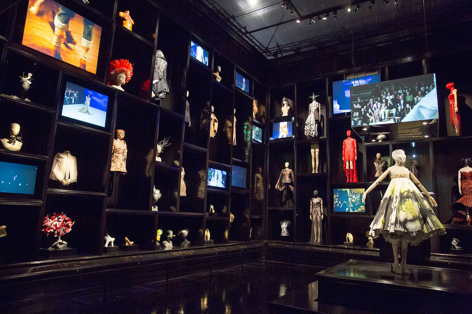 Cabinet of Curiosities gallery at the exhibition Alexander McQueen: Savage Beauty