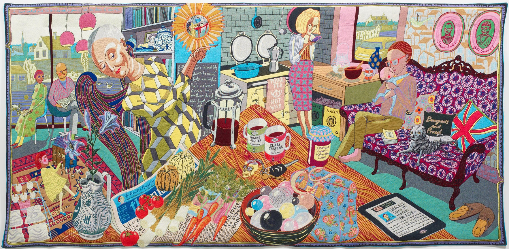 Grayson perry tapestries to tour news art fund for Newspaper wallpaper for sale