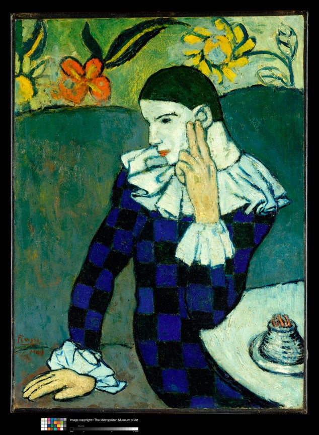 Pablo Picasso, Seated Harlequin, 1901