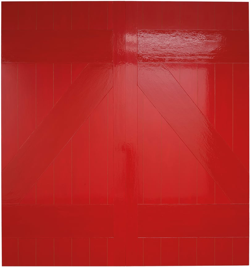 Gary Hume, Red Barn Door, 2008, ArtFunded 2012
