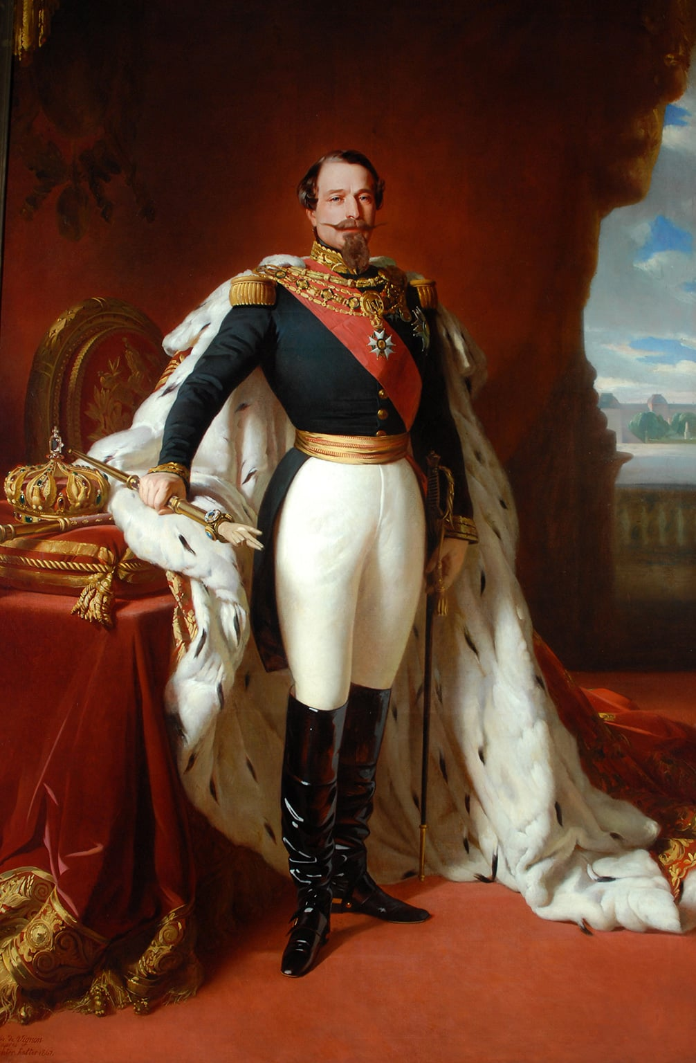 Napoleon III by Jules Vignon 1867. Depicted in full ceremonial outfit tailored by Henry Poole and Co., Napoleon III was Henry Poole's first warrant holder in 1858