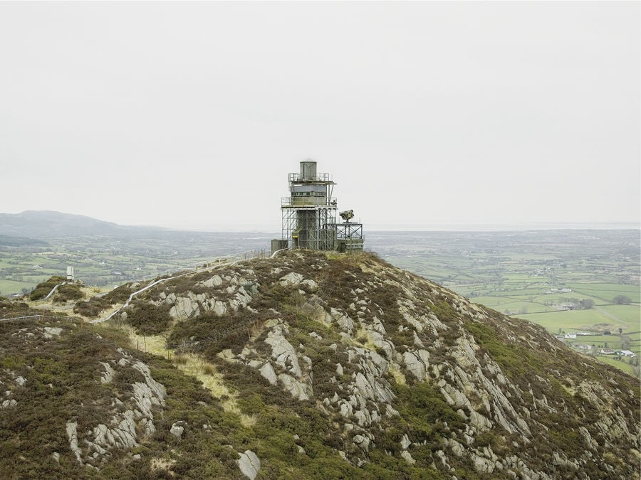 Northern Ireland, 2006.  South east view of Golf 40, British Army surveillance post in South Armagh.