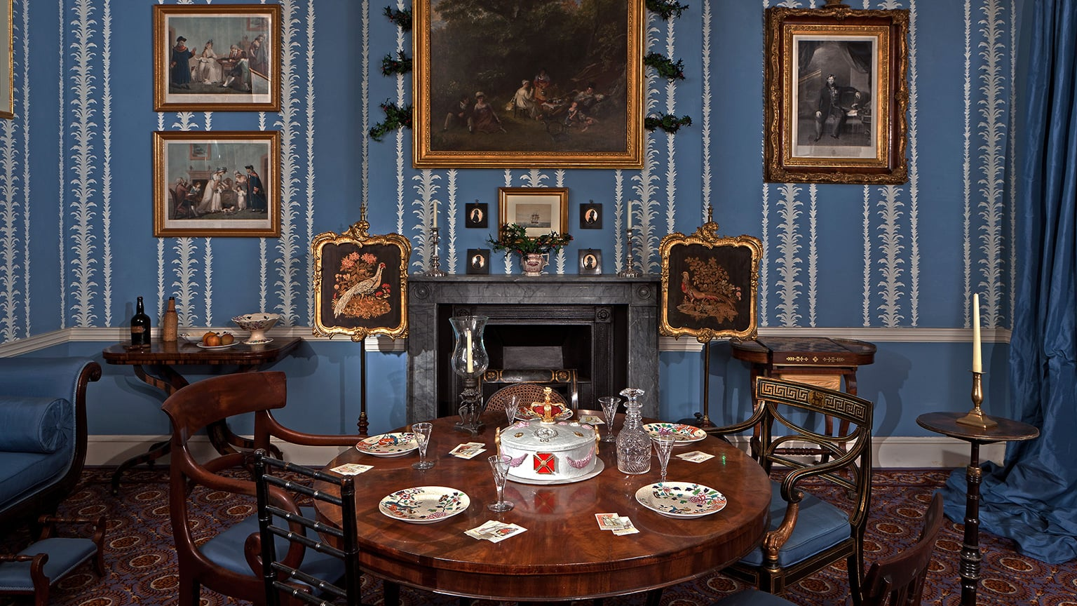 Christmas Past: A drawing room in 1830