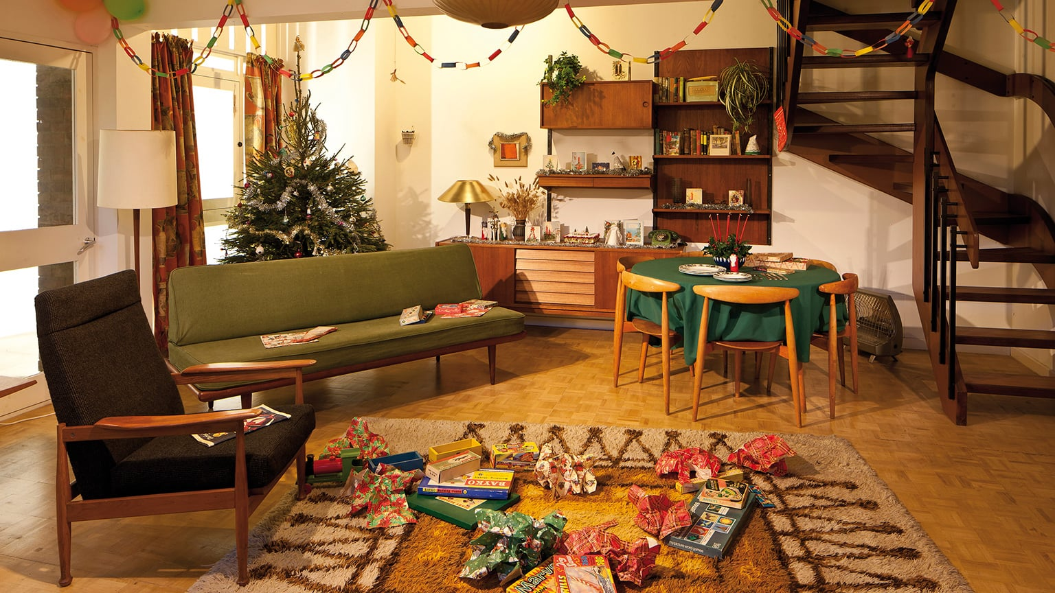 Christmas Past: A living room in 1965
