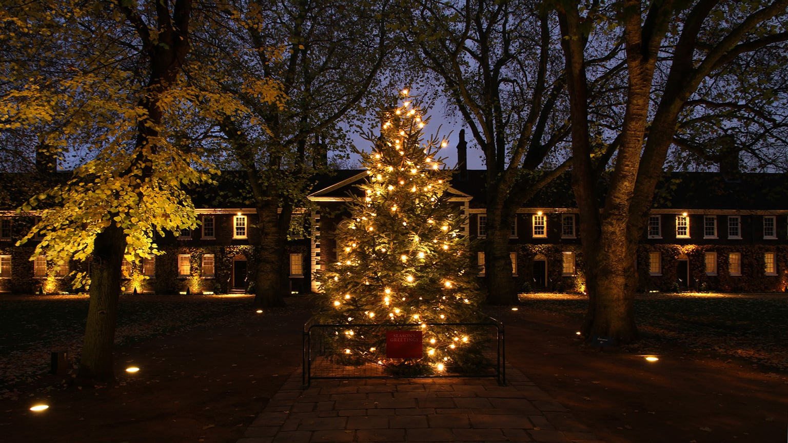 Exterior of the Geffrye during Christmas Past
