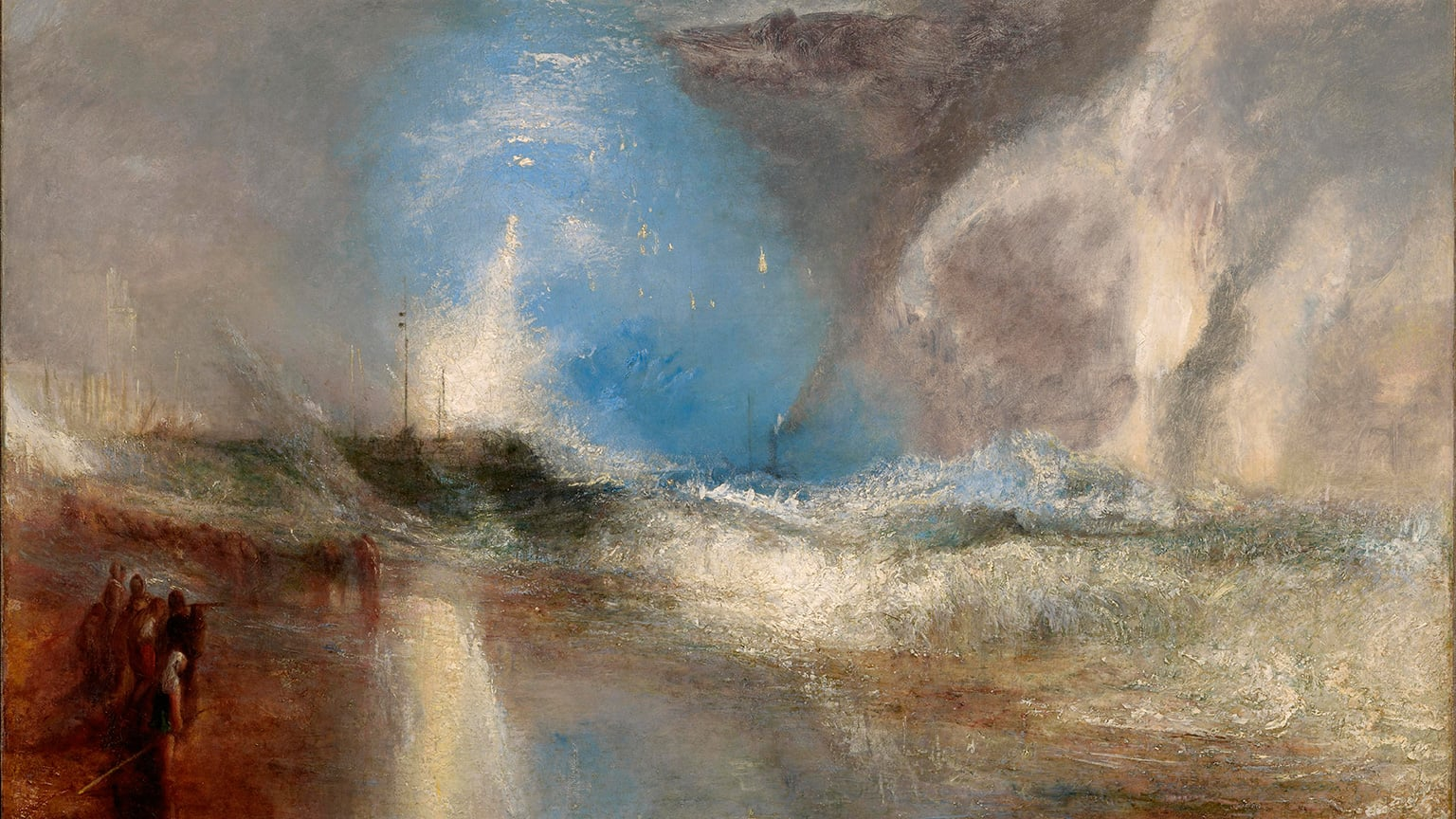 JMW Turner, Rockets and Blue Lights (close at Hand) to warn Steam-Boats of Shoal-Water, 1840