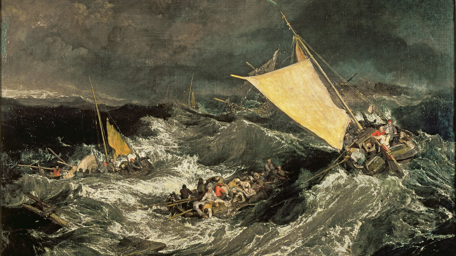 JMW Turner, The Shipwreck, exhibited at Turner's gallery in 1805