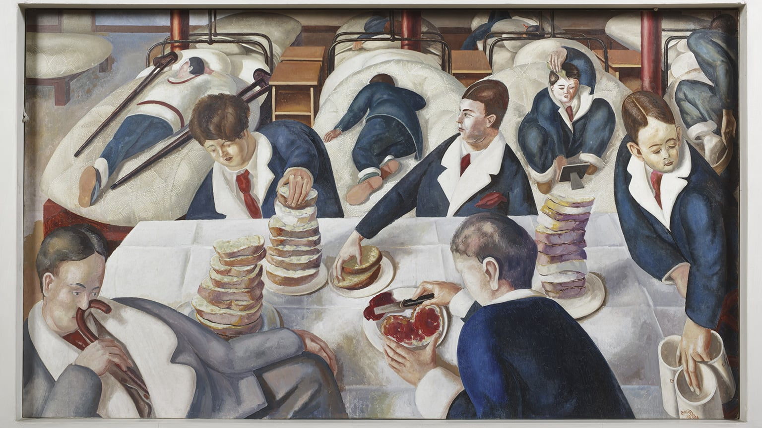 Stanley Spencer: Heaven in a Hell of War, Pallant House Gallery, reduced price with National Art Pass - Stanley Spencer, Tea in the Hospital Ward, Sandham Memorial Chapel. © National Trust/ John Hammond