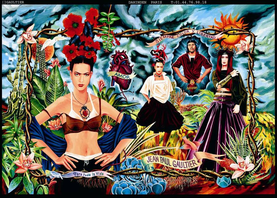 Ad campaign for the Tribute to Frida Kahlo collection. Women's prêt-à-porter spring/summer 1998