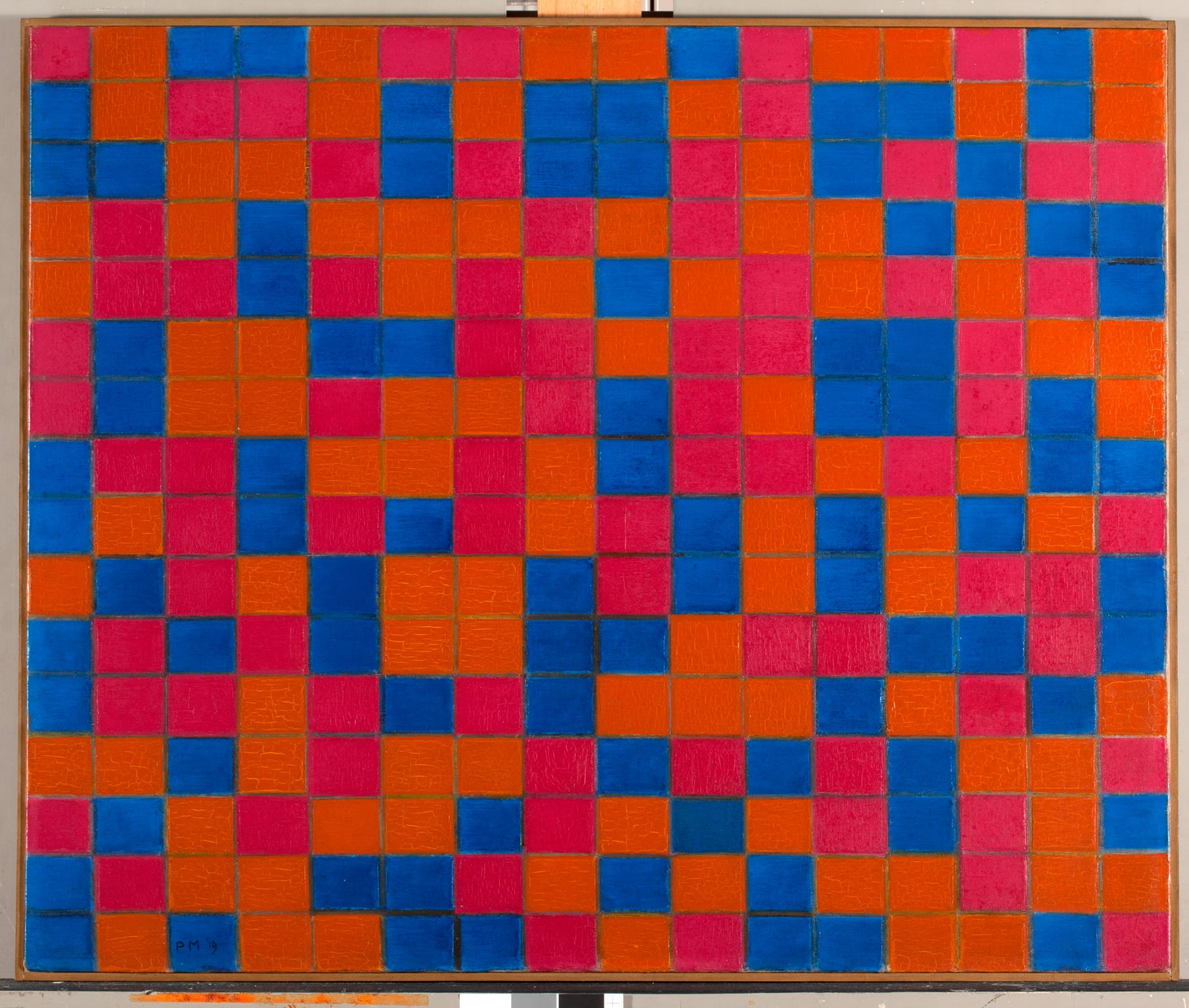 Piet Mondrian, Composition with Grid 8: Checker board Composition with Dark Colours, 1919 – on show at Turner Contemporary - Collection Gemeentemuseum Den Haag, The Netherlands © 2013 Mondrian/Holtzman Trust c/o HCR International USA
