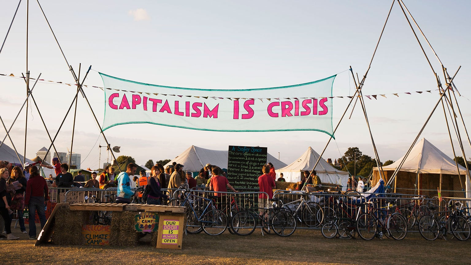 Occupy London Stock Exchange, Capitalism is Crisis banner, Used 2009-12