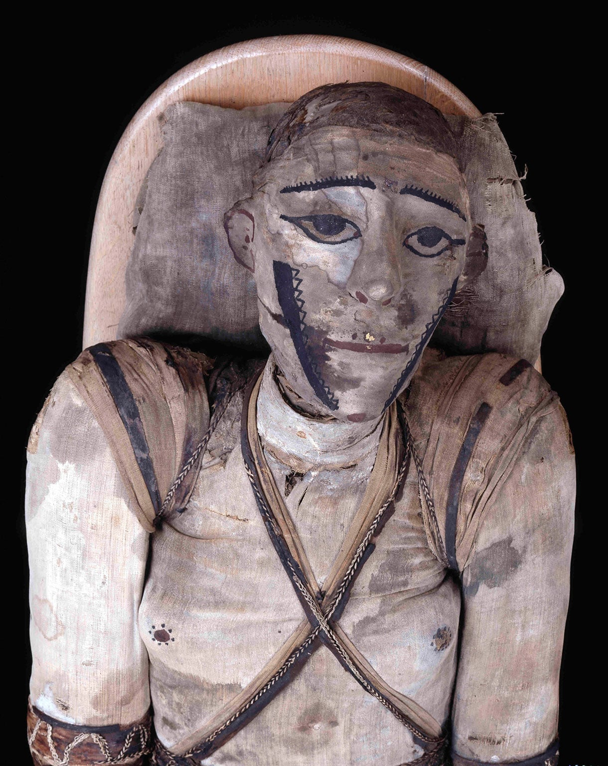 Mummy of an adult man, name unknown. Roman period
