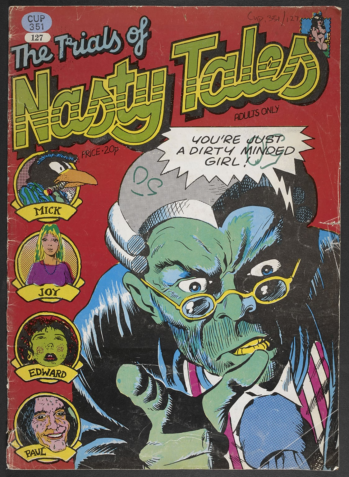 5. Comics Unmasked: Art and Anarchy in the UK at British Library. 50% off with National Art Pass - The Trials of Nasty Tales, 1973. Cover art (c) Dave Gibbons