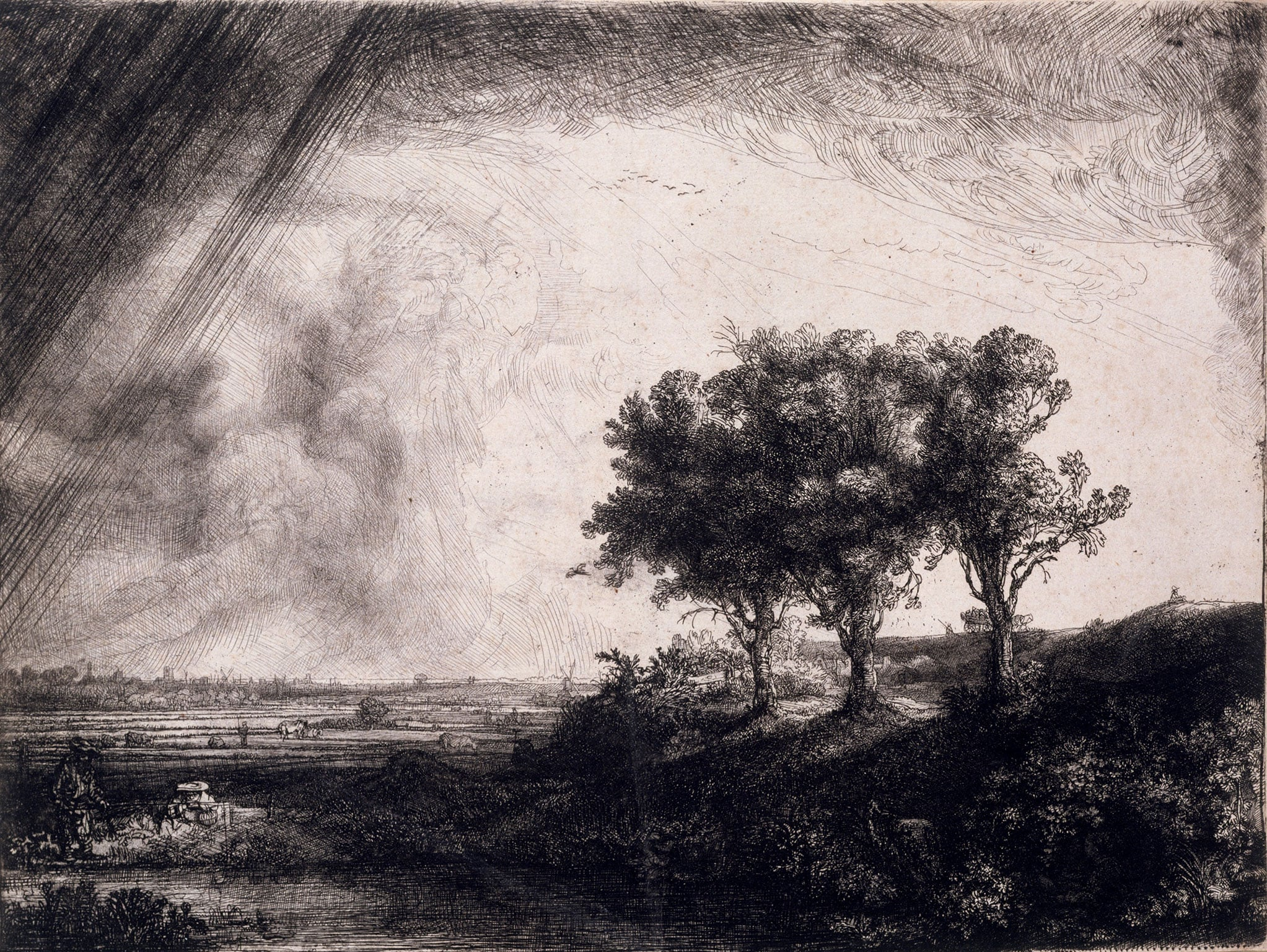 Rembrandt, The Three Trees, 1643