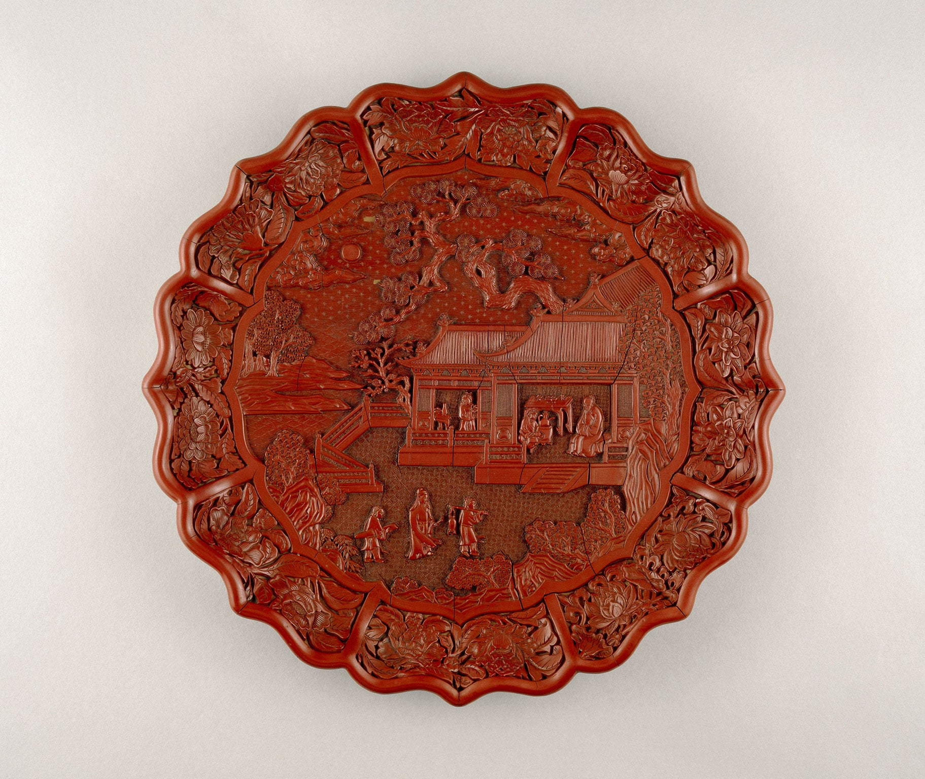 Carved red lacquer on wood core, Yongle mark and period 1403-24, South China