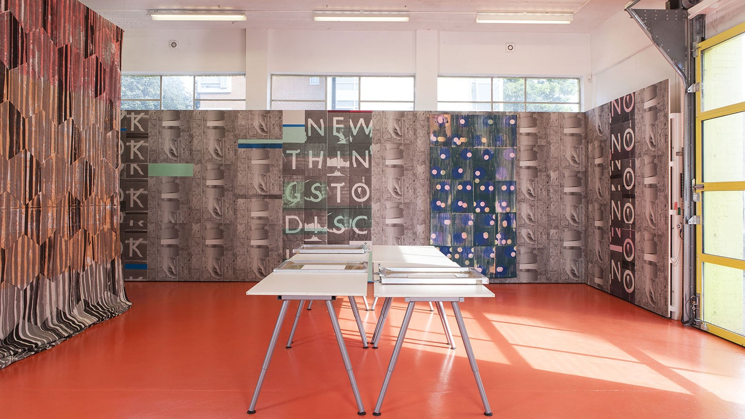 Ciara Phillips, Workshop, 2010 – ongoing. Installation view from The Showroom, London 2013