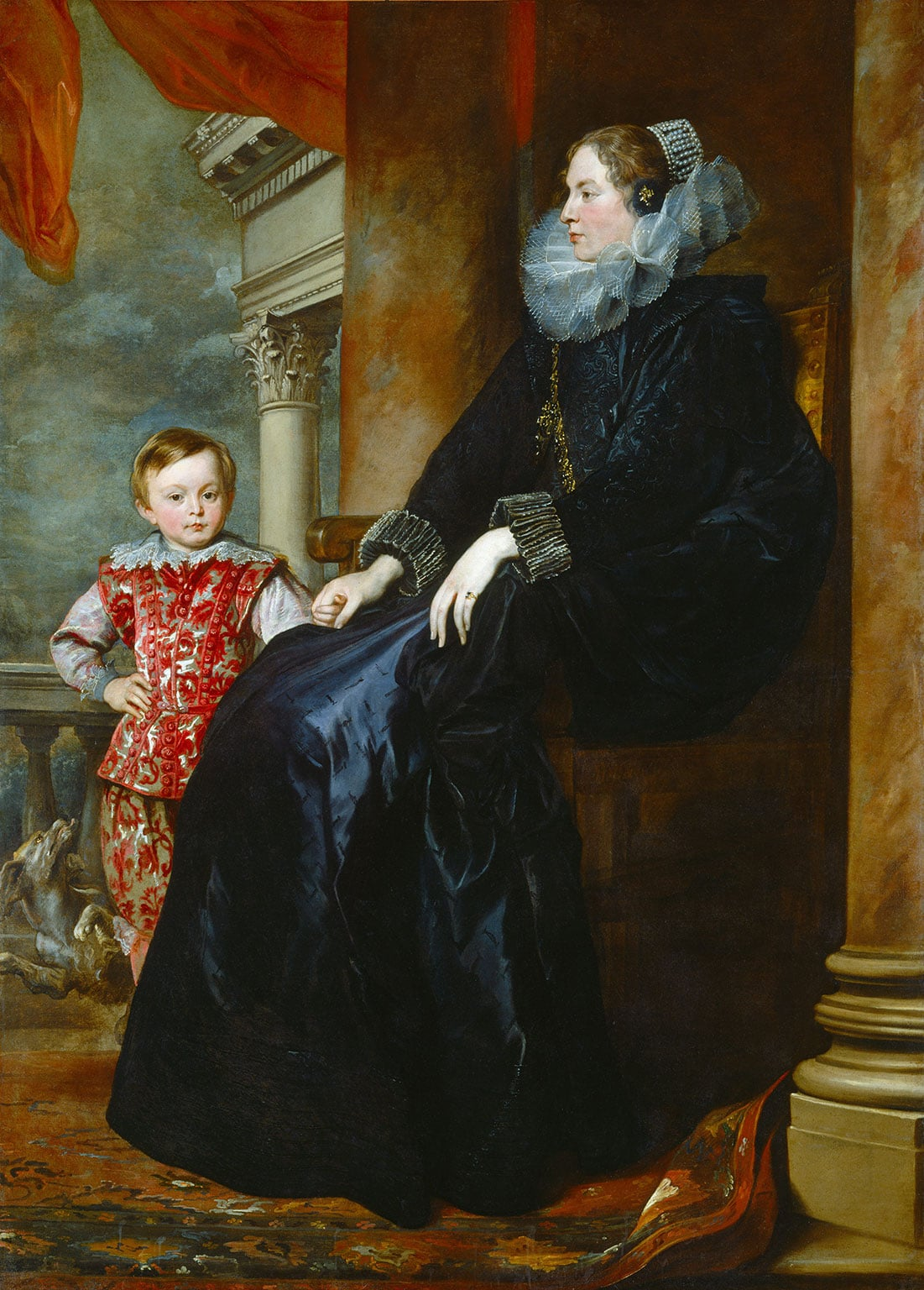 Sir Anthony Van Dyck, A Genoese Noblewoman and Her Son, c. 1626