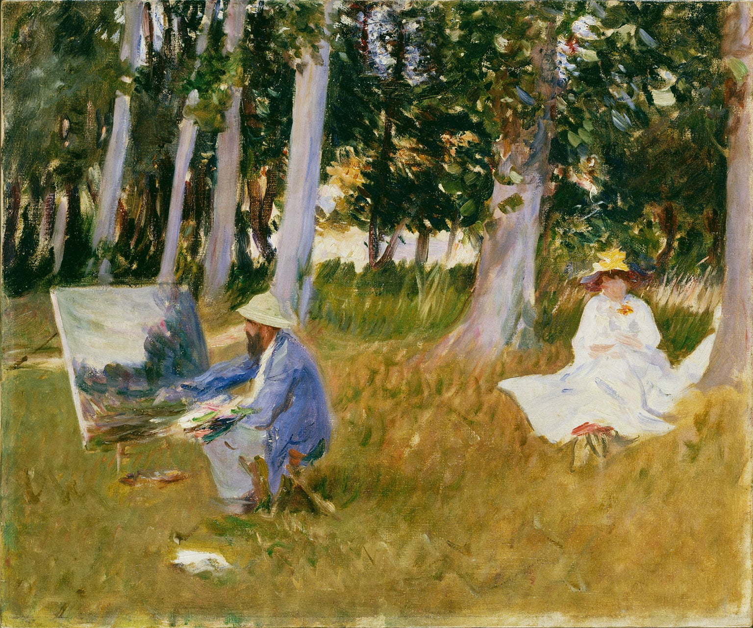 2. John Singer Sargent, Claude Monet, Painting, by the Edge of a Wood, c.1885 - © Tate, London, 2015