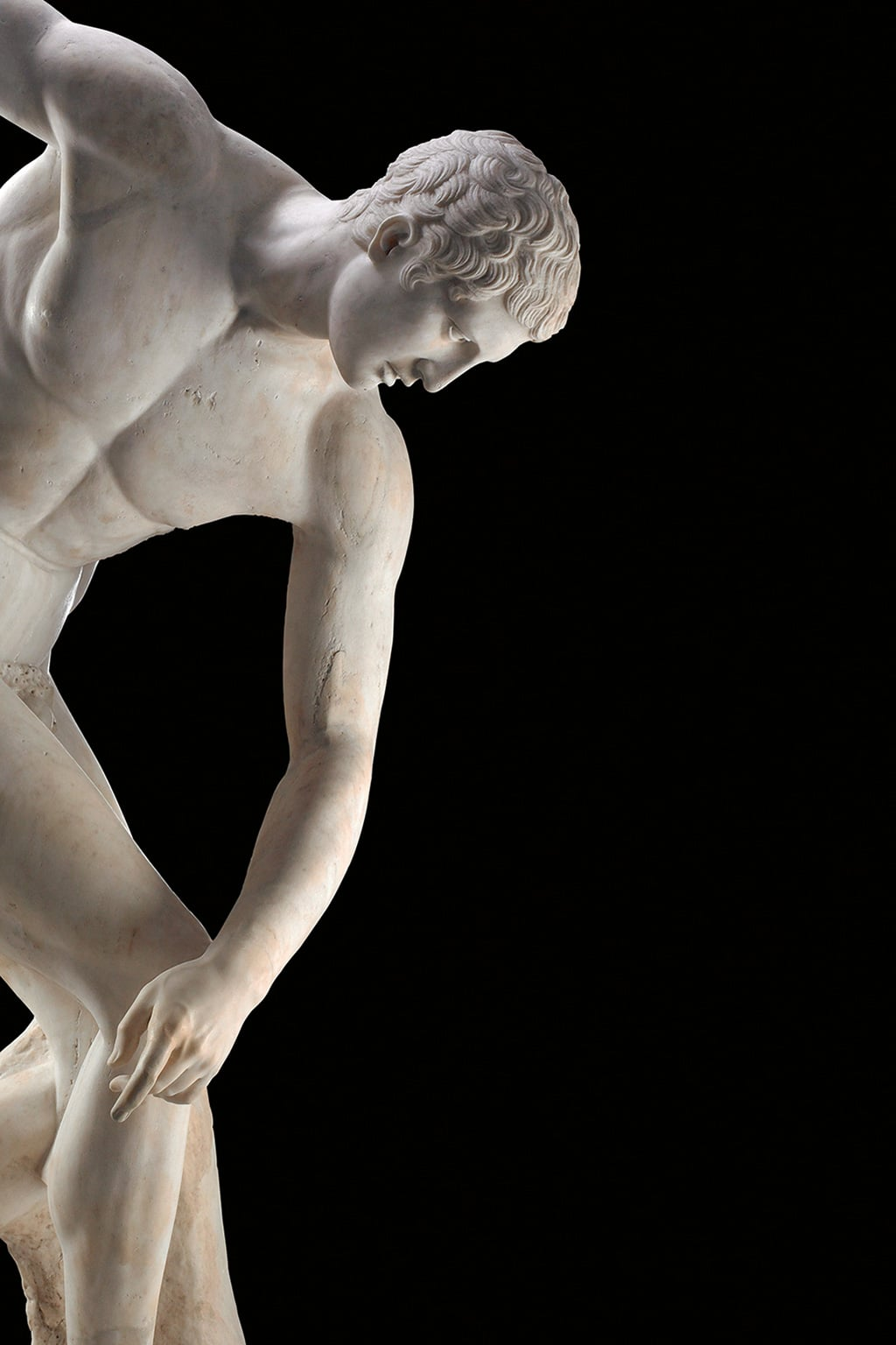 Myron, Discobolus: Marble statue of a discus-thrower, Roman copy of a bronze Greek original of the 5th century BC