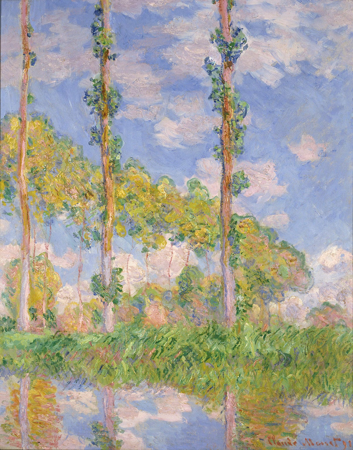 3. Inventing Impressionism, National Gallery, 50% off with National Art Pass - Claude Monet, Poplars in the Sun, 1891 © National Museum of Western Art, Tokyo