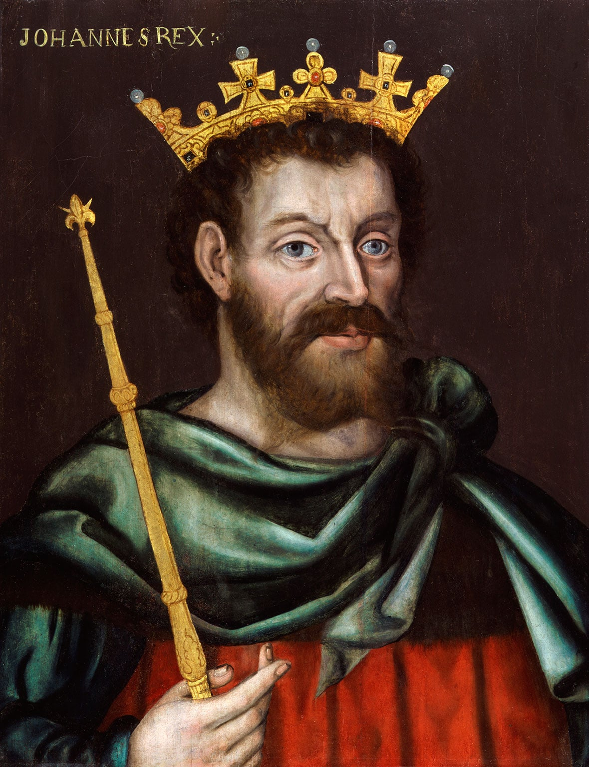First known portrait of King John by an unknown artist, 1620