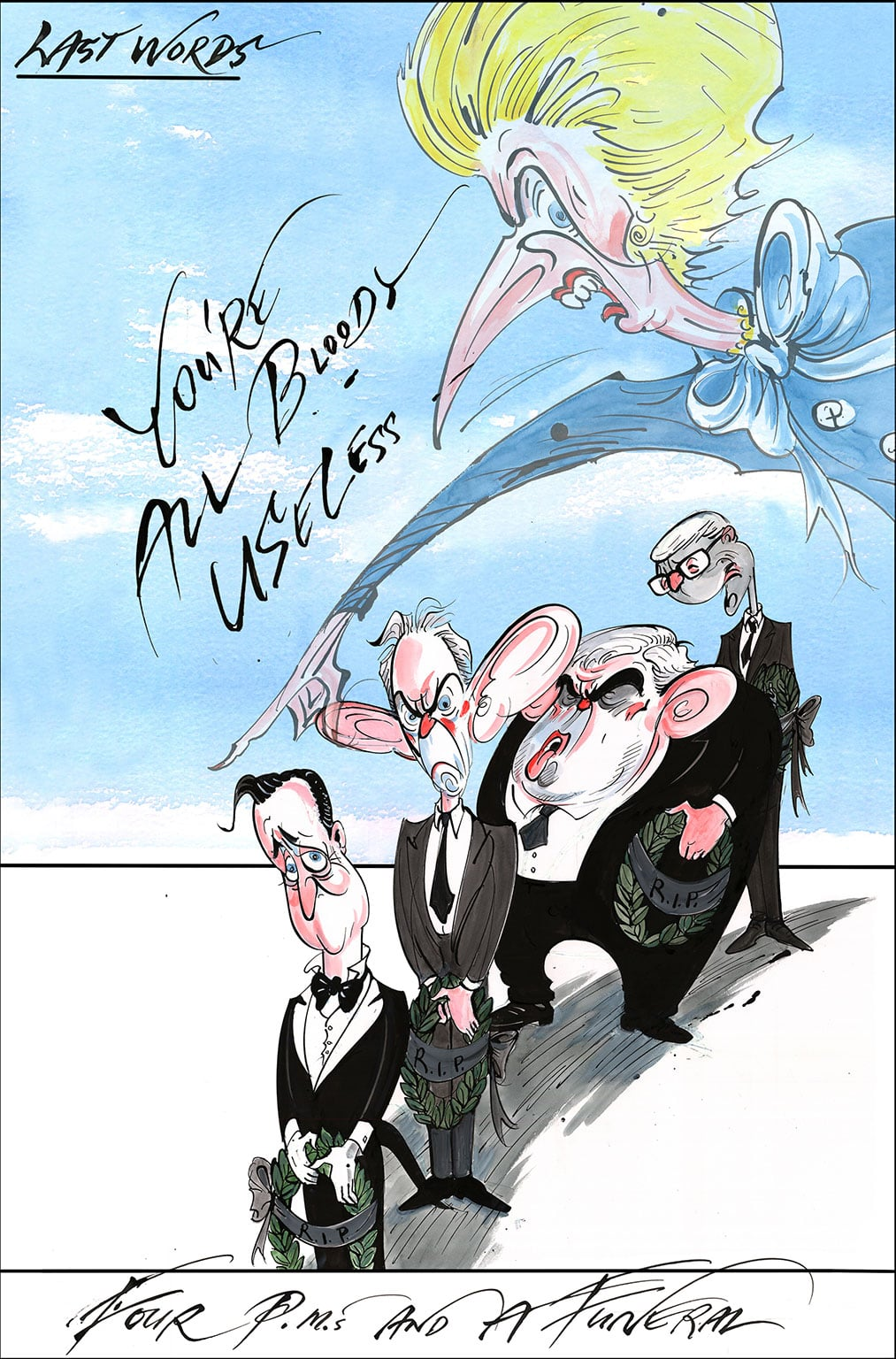 Gerald Scarfe, Thatcher - Four PMs and a Funderl