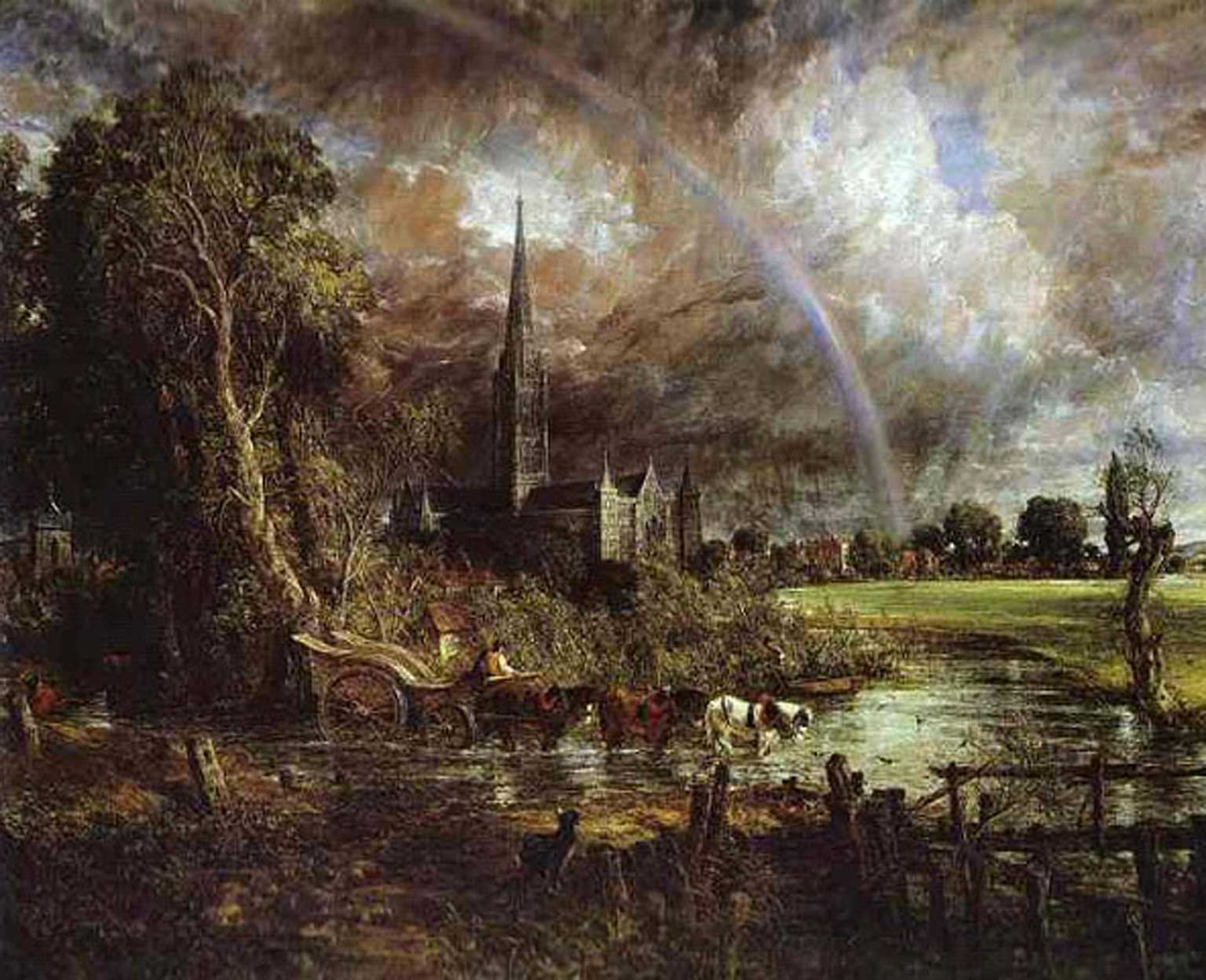John Constable, Salisbury Cathedral from the Meadows, 1831 - © Tate
