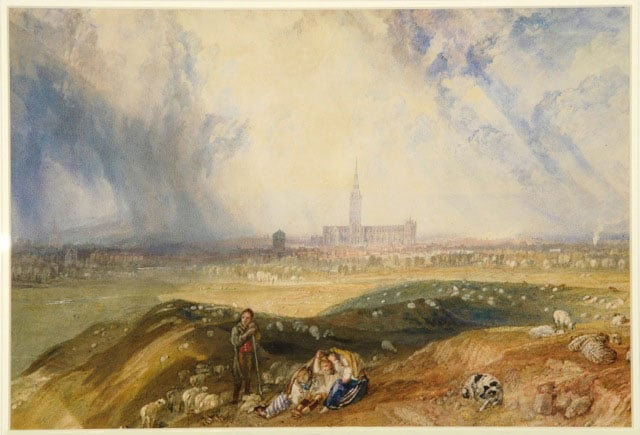 2. Turner's Wessex: Architecture and Ambition, The Salisbury Museum, free with National Art Pass - JMW Turner, Salisbury from Old Sarum, 1828-1829