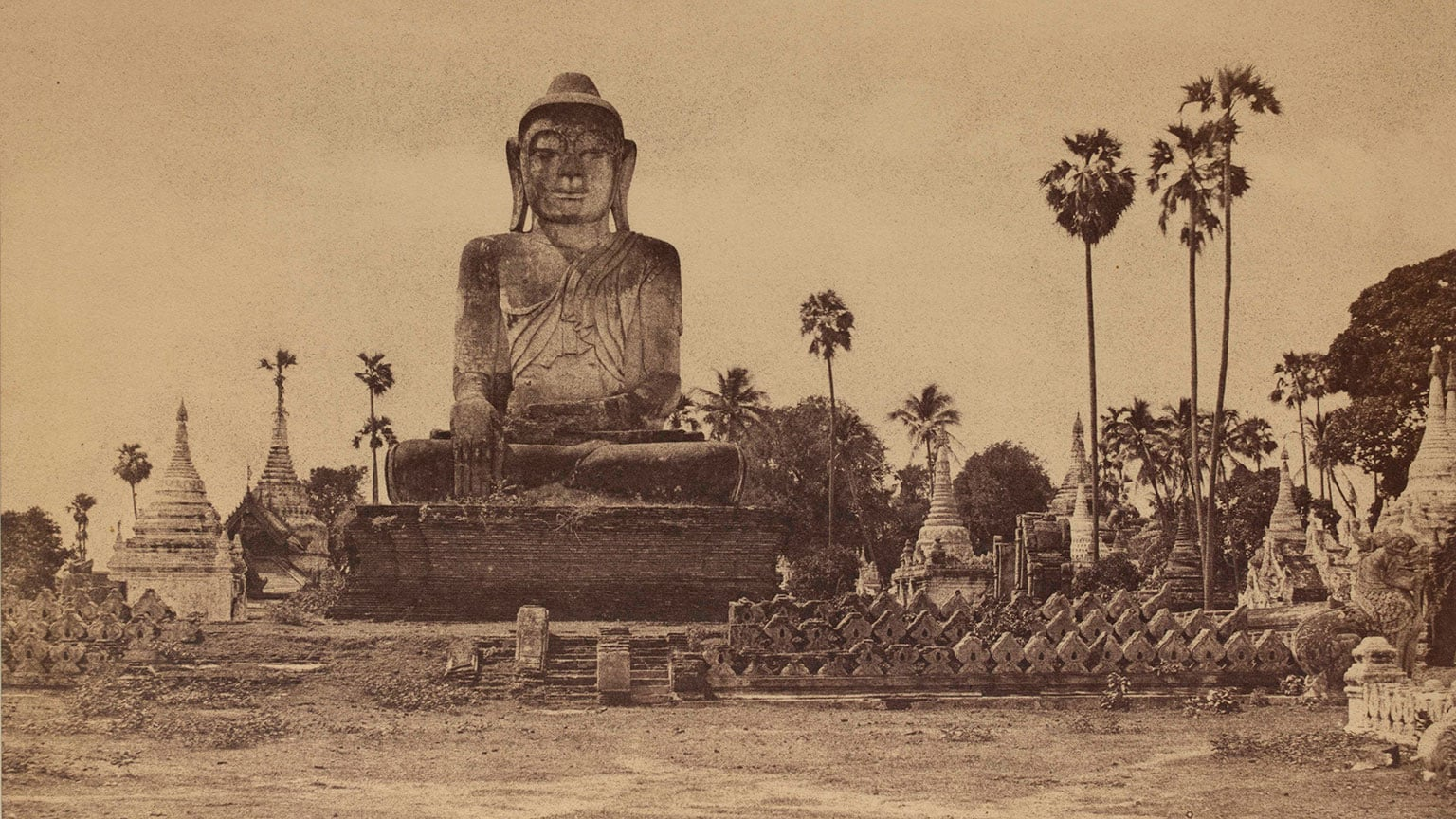 2. Captain Linneaus Tripe: Photographer of India and Burma 1854-1860, Victoria and Albert Museum, Free entry to all - Captain Linneaus Tripe, Colossal Statue of the Guatama ,1855, Victoria and Albert Museum, London