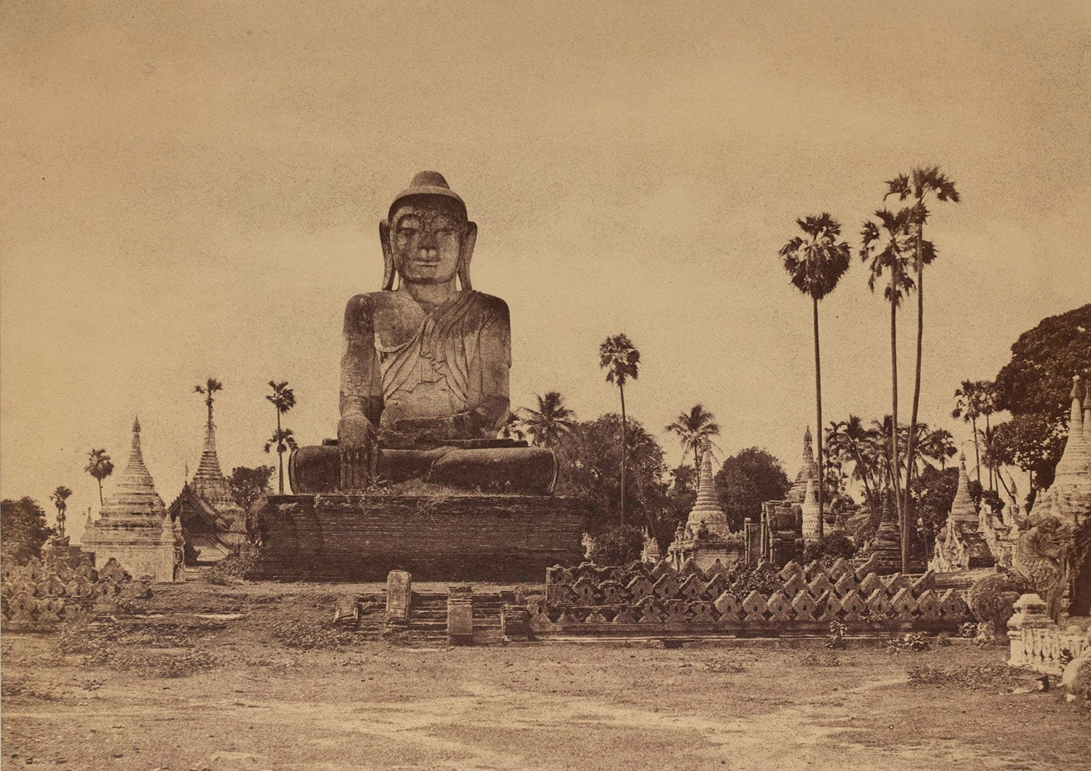 4. Captain Linneaus Tripe: Photographer of India and Burma, 1854-1860, V - Captain Linneaus Tripe, Colossal Statue of the Guatama ,1855. V and A Museum