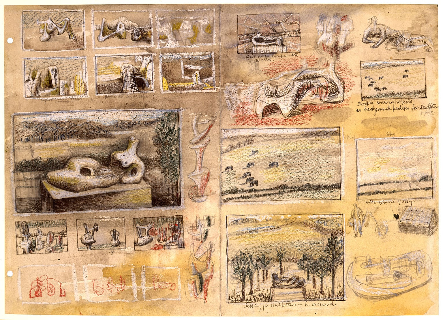 Henry Moore, Ideas for Sculpture in Landscape, c.1938