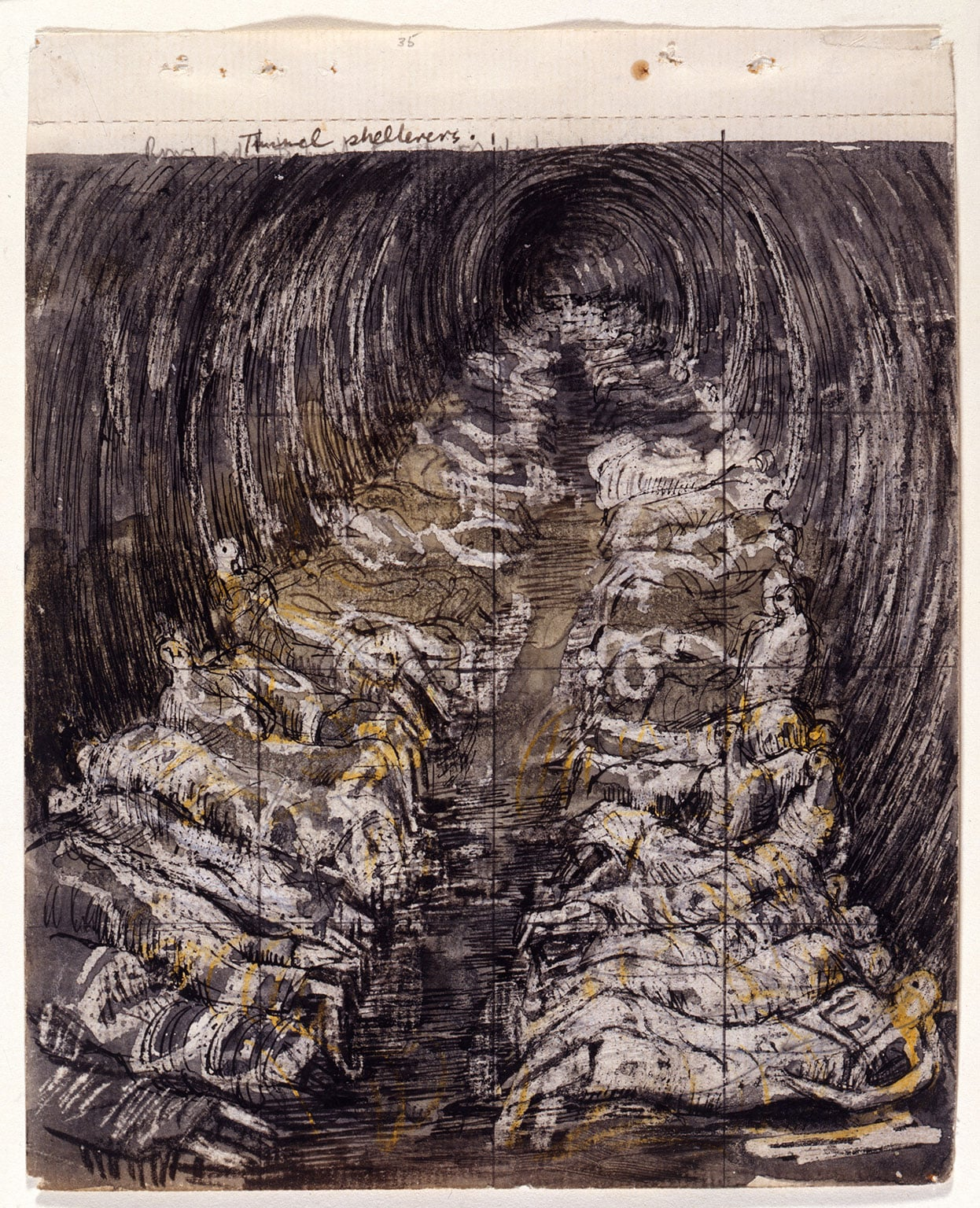 Henry Moore, Study for 'Tube Shelter Perspective: The Liverpool Street Extension', 1941