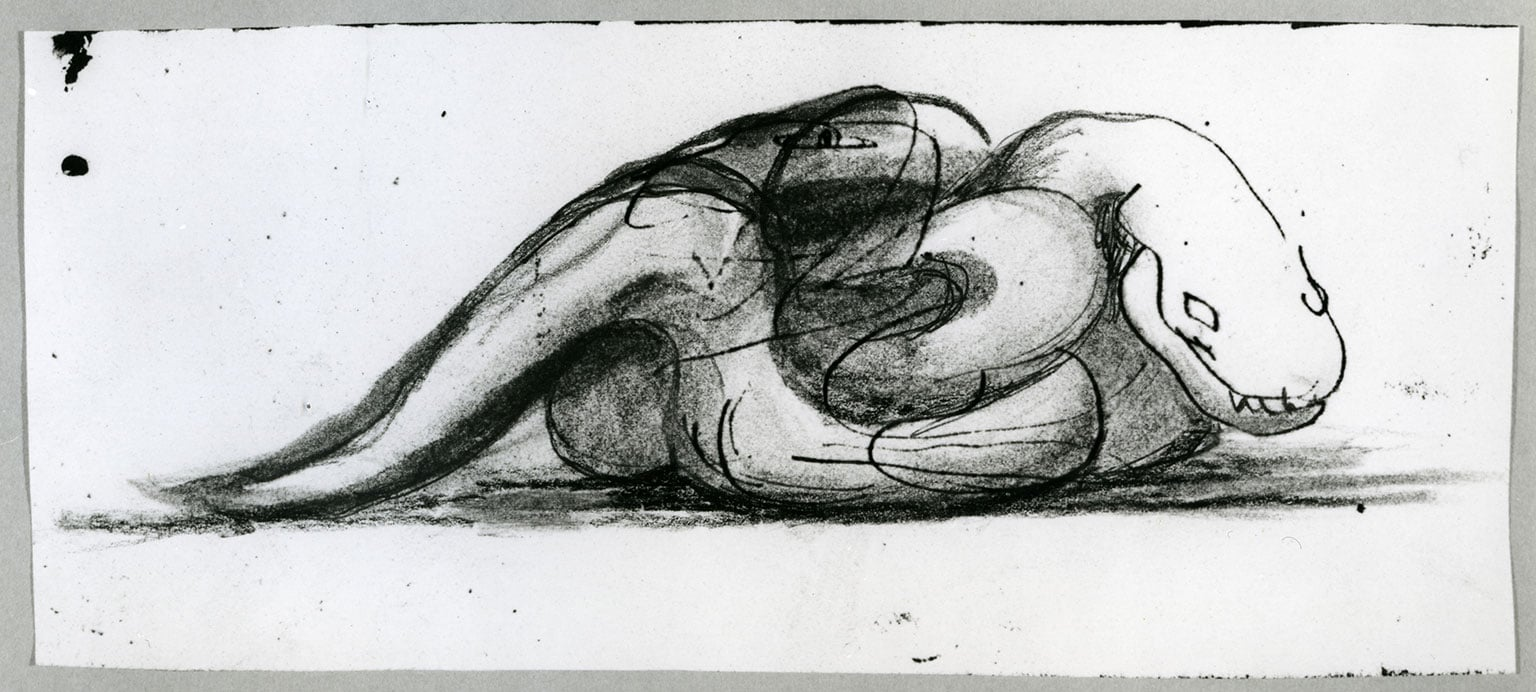 Henry Moore, Reworked Photocopy of Page from West Wind Sketchbook 1928
