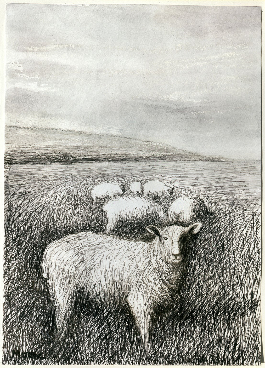 Henry Moore: From Paper to Bronze, Waddesdon - Henry Moore, Sheep Grazing in Long Grass I, 1981 Photo: Brian Coxall, The Henry Moore Foundation archive. Reproduced by permission of The Henry Moore Foundation