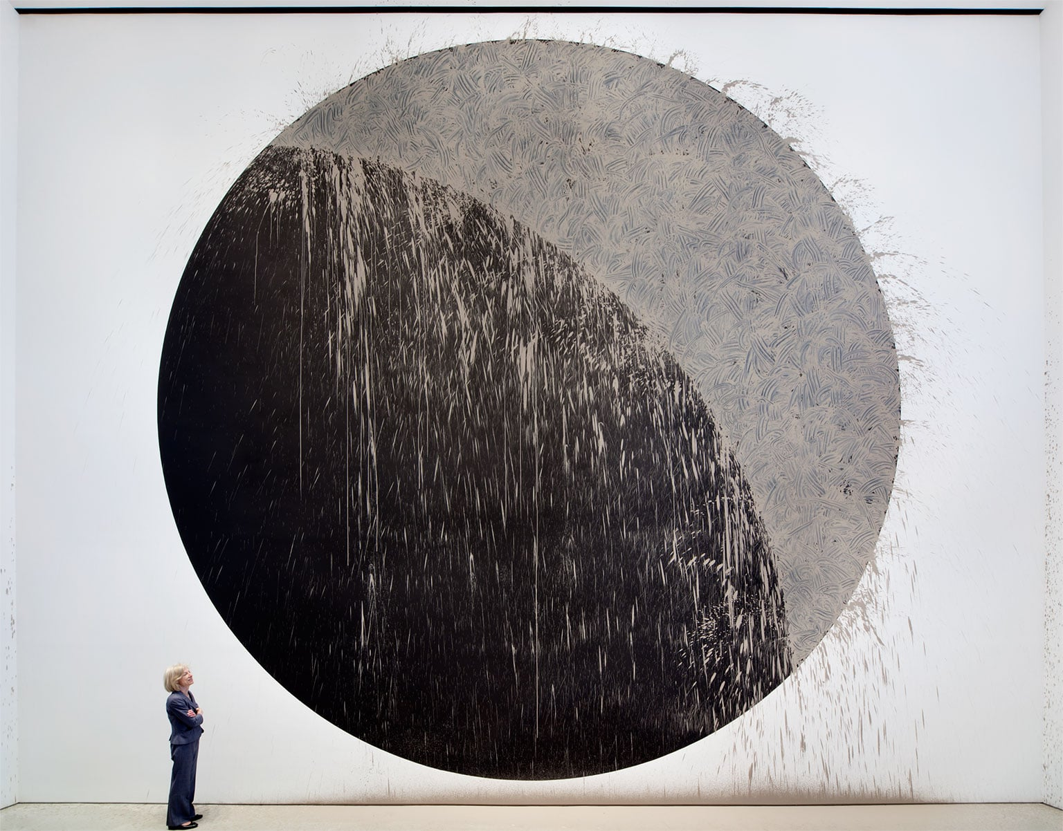 2. Richard Long: Time and Space, Arnolfini, Bristol. Free entry to all - River Avon Mud Crescent, New York, 2011. Courtesy the artist