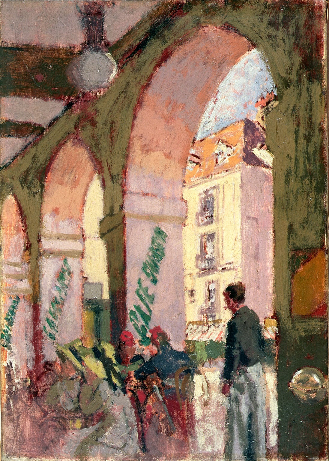 5. Sickert in Dieppe, Pallant House Gallery, reduced price with National Art Pass - Walter Sickert, The Café Suisse (Café des Arcades, Dieppe), 1914. Leeds Museums and Galleries