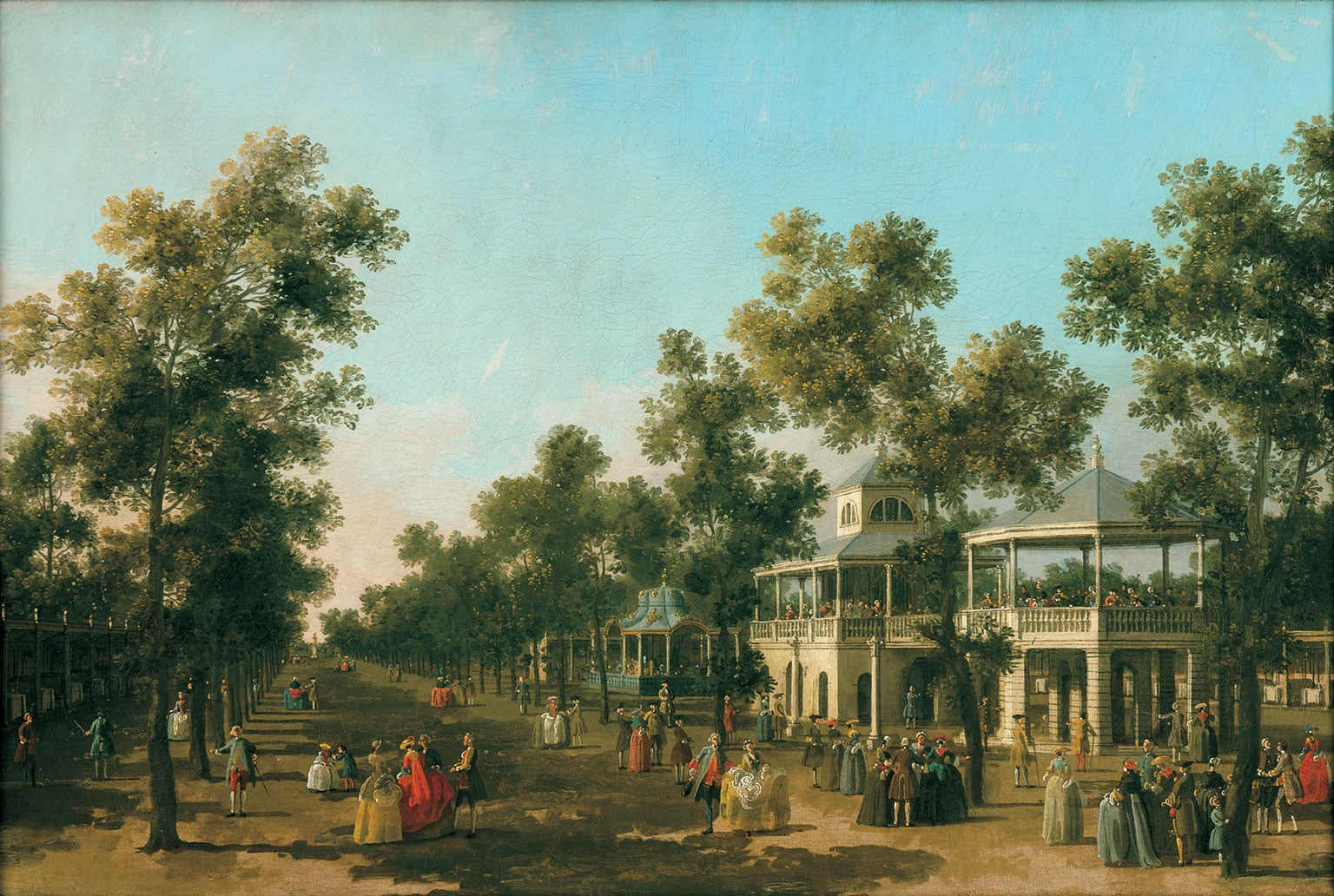 1. Canaletto: Celebrating Britain, Compton Verney, 50% off with National Art Pass - Canaletto, The Grand Walk Vauxhall Gardens, c.1751. © CV, photo by Prudence Cuming Associates Ltd