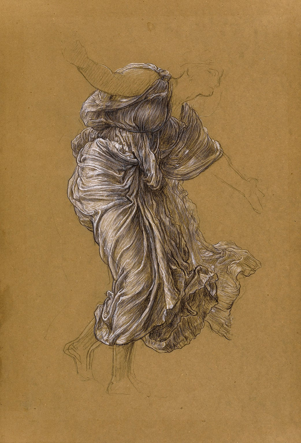 3. Brothers in Art: Drawings by Watts and Leighton, Watts Gallery, 50% off with National Art Pass - Frederic Leighton, Study for 'Return of Persephone' Drapery for Demeter, c. 1890 Leighton House