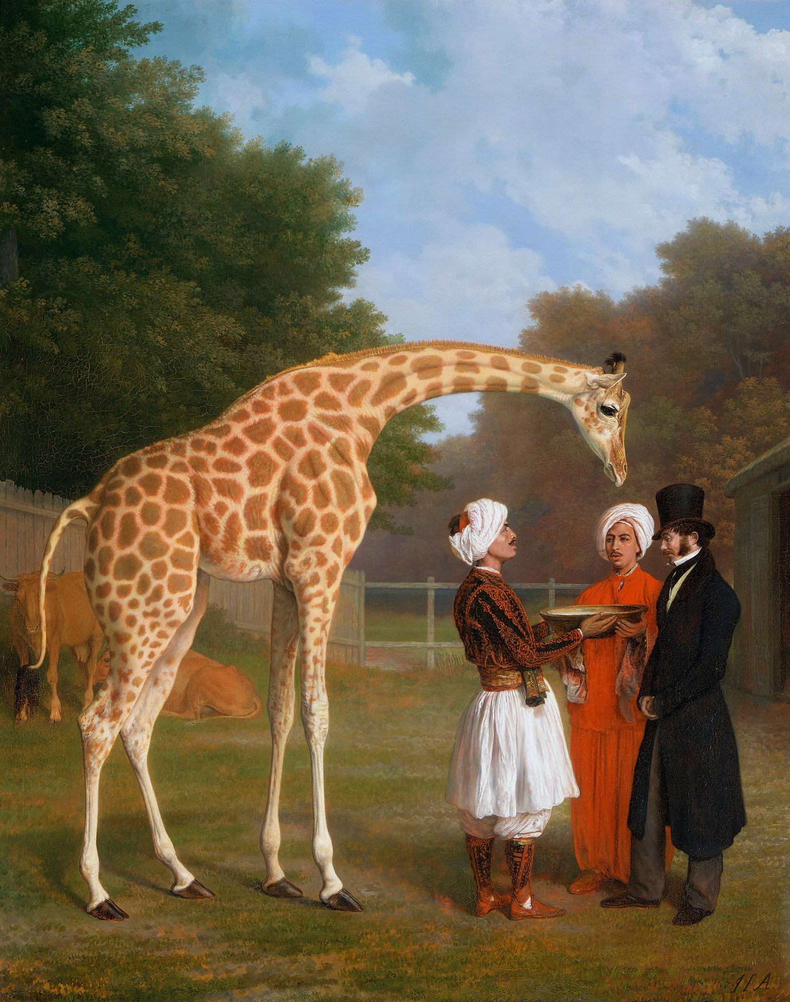 3. Exotic Creatures, Royal Pavilion, free with National Art Pass - Jacques Laurent Agasse, The Nubian Giraffe, 1827. Royal Collection Trust © Her Majesty Queen Elizabeth II