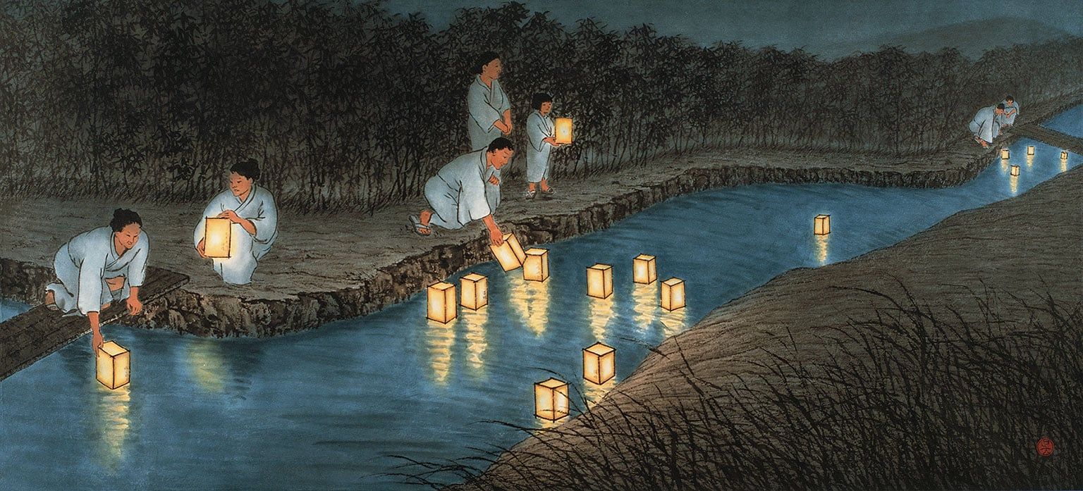 2. Reflections: Contemporary Ink Paintings by Wu Lan-Chiann, Museum of East Asian Art, free with National Art Pass - Wu Lan-Chiann, Reflections of the Past, 1999. © The artist